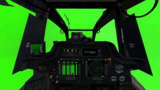 getlinkyoutube.com-Helicopter cocpits green screen animation ah64 Longbow by razor6031
