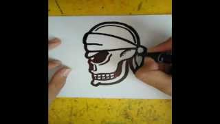 getlinkyoutube.com-How to draw a skull (from the side)
