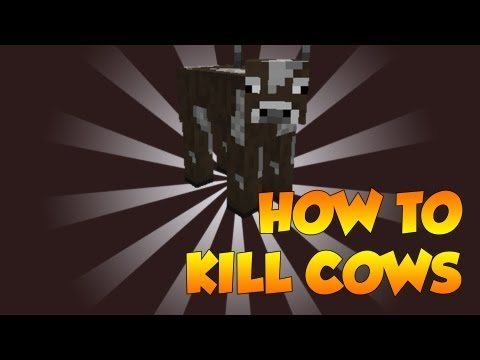 How to kill a Cow in Minecraft - Tutorial