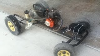 getlinkyoutube.com-Homemade Weed Eater RC Car | Test Run