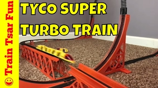 getlinkyoutube.com-Tyco Super Turbo Train! Goes through Loop and Jumps! Up the Walls!