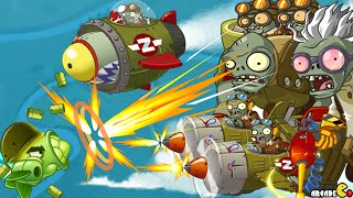 getlinkyoutube.com-Plants Vs Zombies 2: Sky Castle World Mini Game Air Force Sky War! (PVZ 2 China)