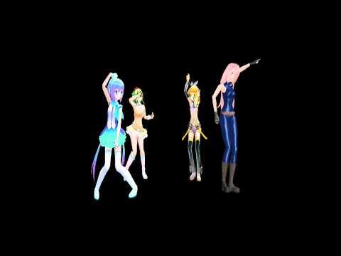 [MMD] Poker Face [Gumi,Rin,Aoki,Luka] [HD].wmv