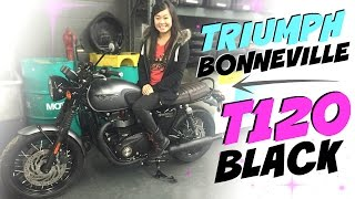 getlinkyoutube.com-2016 Triumph Bonneville T120 Black, first look