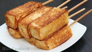 "getlinkyoutube.com-How to make Toasticles! ขนมปังปิ้งเสียบไม้ ""โทสติเคิล"" ใคร ๆ ก็ชอบ"