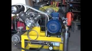 getlinkyoutube.com-Компрессор высокого давления на базе АК-150 СВ