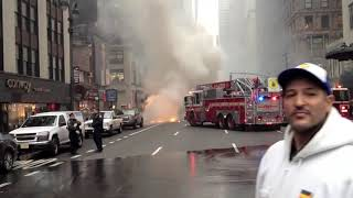 getlinkyoutube.com-School Bus on fire NYC