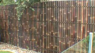 getlinkyoutube.com-DIY BAMBOO PANEL FENCE INSTALLATION GUIDE