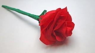 getlinkyoutube.com-Розы из гофрированной бумаги