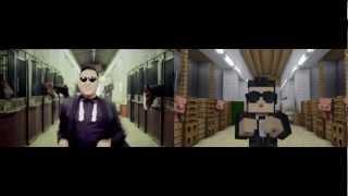 getlinkyoutube.com-GANGNAM STYLE VS MINECRAFT STYLE
