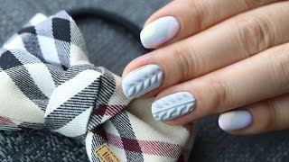 getlinkyoutube.com-[미대의 네일컬렉션]77화_1분만에 완성!니트네일아트/Knit nailart /nailcollection by midae