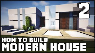 getlinkyoutube.com-Minecraft House - How to Build : Modern House - Part 2