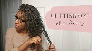 getlinkyoutube.com-Natural Hair: Cutting off Heat Damage