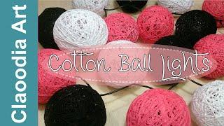 getlinkyoutube.com-Cotton Ball Lights - DIY