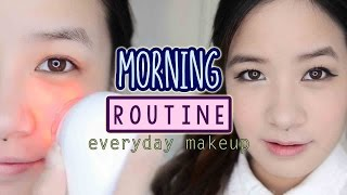 getlinkyoutube.com-My Morning Skincare Routine + Everyday Makeup