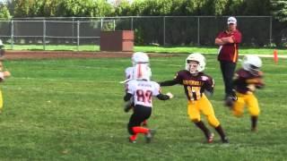 getlinkyoutube.com-Fastest 6 year old Football Player (Runningback) - Miles Miskel