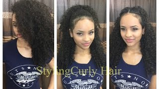 getlinkyoutube.com-6 quick and simple ways to style curly hair! | Sayria Jade