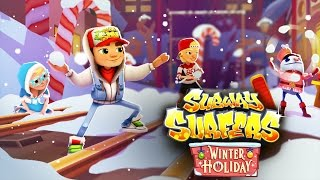getlinkyoutube.com-Subway Surfers World Record! 6M Score Subway Surfers Winter Holiday