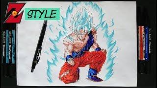 Drawing GOKU BLUE   DBZ STYLE | Dragonball Art