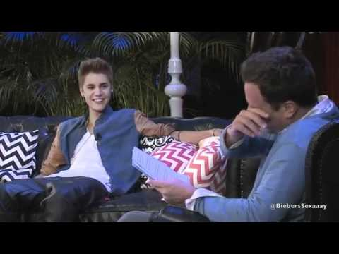 Justin Bieber and Jimmy Fallon interview FUNNY PARTS YOUTUBE 2012