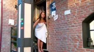 getlinkyoutube.com-ENF  Towel Stuck on Door, Nearly Naked Outside