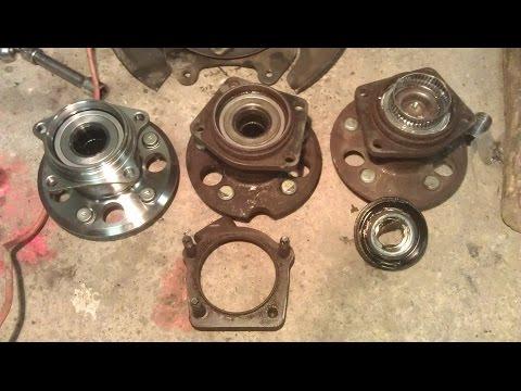 Замена ступицы заднего колеса (rear wheel hub)