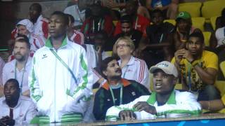 Nigerian-supporter-Commonwealth-Games-New-Delhi width=