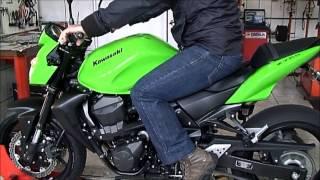 LR Motos - Kawasaki Z750 Verde No Simulador de Velocidade