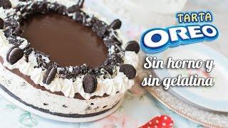 getlinkyoutube.com-Tarta Oreo | Sin horno, sin gelatina y sin complicaciones | Quiero Cupcakes!