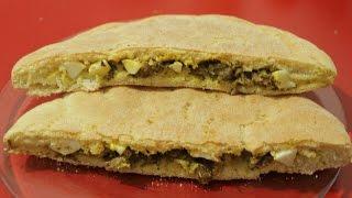 getlinkyoutube.com-خبز سهل بحشوة لذيذة / خبز محشي / خبزة المدفونة مع طبخ ليلى khobz