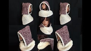 getlinkyoutube.com-How to Crochet a Hooded Cowl Pattern #21│by ThePatterfamily