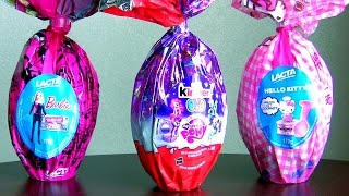 getlinkyoutube.com-Giant Easter Eggs Kinder My Little Pony Hello Kitty from Disney Collector Childrens Toys Surprise