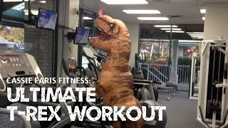 getlinkyoutube.com-Ultimate T-Rex Workout (Jurassic World Inflatable Costume Ft. Cassie Faris Fitness/Kassie K.)