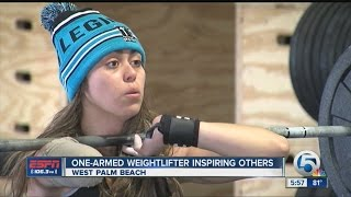 getlinkyoutube.com-One-armed weightlifter inspiring others
