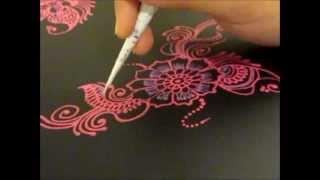 getlinkyoutube.com-Arabic Henna design inspired Folder -- Henna Glitz