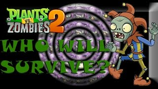 getlinkyoutube.com-Plants vs Zombies 2 - Who Will Survive the Jester Attack?!?