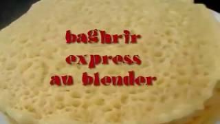 getlinkyoutube.com-baghrir, crepes au mille trous express au blender sans repos