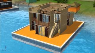 Sims 3 - Island Paradise - Building a Houseboat: Swimming Sunshine
