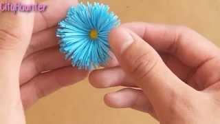 getlinkyoutube.com-Como hacer flores de papel {SUPER FACIL} // Decoración para regalo