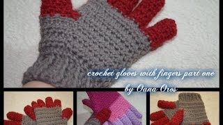 getlinkyoutube.com-crochet gloves with fingers part one