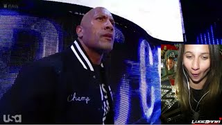 getlinkyoutube.com-WWE Raw 10/6/14 THE ROCK RETURNS interrupts RUSEV Live Commentary