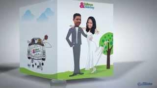 getlinkyoutube.com-Invitación a Nuestra Boda: Tarjeta Animada 3D