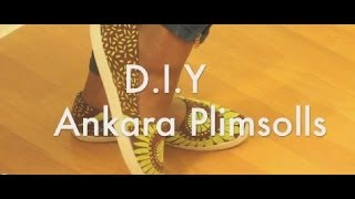 getlinkyoutube.com-DIY Ankara Plimsolls