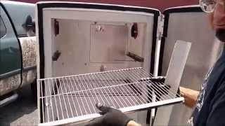 getlinkyoutube.com-How to Convert an Old Refrigerator into a Pellet Smoker with Pellet Pro®
