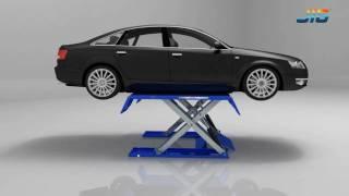 getlinkyoutube.com-low rise scissors car Lift SLS106_Product Show-JIG
