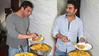 getlinkyoutube.com-Salman Khan Family Eid 2016 Celebration & Biryani Party For Freaky Ali Movie Success