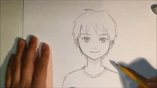 getlinkyoutube.com-How To Draw Anime Male Face [Slow Narrated Tutorial] [No Timelapse]
