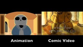"getlinkyoutube.com-""Stronger Than You"" Sans Animation and Comic Video Comparison"