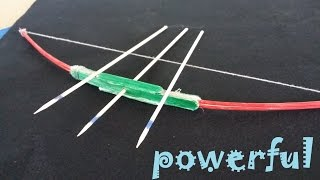 getlinkyoutube.com-How to make a powerful Bow using Popsicle sticks and Toothpicks