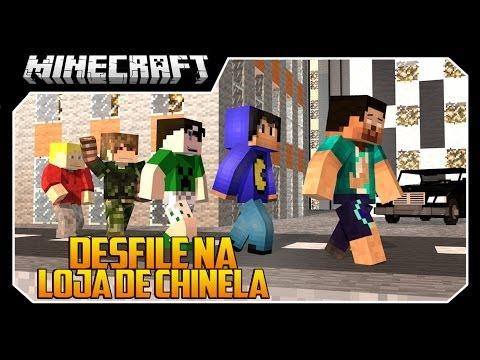 Minecraft A SÉRIE #31 DESFILE NA LOJA DE CHINELO!!